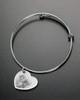 Sophisticate Side Heart Photo Engraved Bracelet