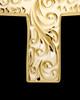 Memorial Pendant Urn Etched Cross - 14k Gold-Large