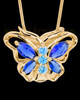 Gold Bejeweled Butterfly Cremation Pendant