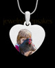 Full Color Heart Photo Engraved Pet Pendant Stainless Steel