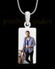 Stainless Steel Long Rectangle Full Color Photo Engraved Pendant