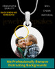 Stainless Steel Large Round Full Color Photo Engraved Pendant