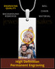 Full Color Tall Rectangle Photo Engraved Pendant