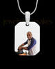 Octagon Full Color Photo Engraved Pendant