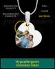 Side Heart Full Color Photo Engraved Pendant