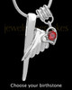 Sterling Silver Grace With Birthstone Cremation Urn Pendant