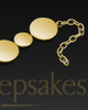 Polished Gold Shining Light Cremation Bracelet