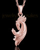 14K Rose Gold Wild Horse Cremation Jewelry