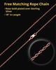 14K Rose Gold 2 Person Contemporary Companion Infinity Ash Pendant