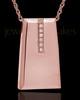 14K Rose Gold Shimmer Rectangle Cremation Necklace
