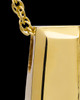 14K Gold Shimmer Rectangle Cremation Necklace