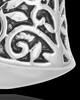 14K White Gold Intricate Heart Urn Pendant