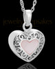 14K White Gold Blushing Heart Urn Keepsake