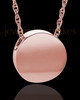 14K Rose Gold Spherical Cremation Jewelry