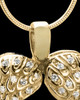 14K Gold Winged Memories Heart Keepsake Jewelry