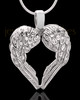 14K White Gold Winged Memories Heart Keepsake Jewelry
