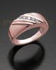 Ladies 14K Rose Gold Tender Cremation Ring