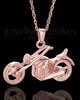 Cruisin Motorcycle Urn Pendant in 14K Rose Gold