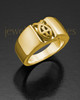 Ladies 14k Gold Devout Ring For Ashes