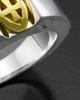 Men's White Gold Devout Ring for Ashes