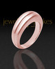 Ladies 14K Rose Gold Princess Ash Ring
