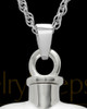 14K White Gold Cremation Jewelry By Your Side Heart Keepsake