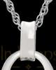 Jewelry Urn 14K White Gold Heartfelt Round Keepsake