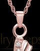 Pendant Keepsake 14K Rose Gold Quartz Cross