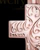 Memorial Pendant Urn Etched Cross - 14k Rose Gold-Large