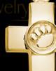 Ash Keepsake 14K Gold Dedication Paw Cross Keepsake