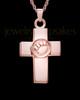Ash Keepsake 14K Rose Gold Dedication Paw Cross Keepsake