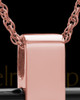 Necklace Urn 14K Rose Gold Barred Cross Keepsake