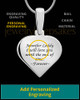 Sterling Silver Heart Thumbprint Pendant