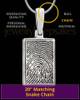 Sterling Silver Rectangle Thumbprint Pendant