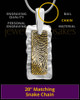 Hammered Silver-framed Gold Thumbprint Pendant