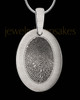 Large Stainless Oval Thumbprint Pendant