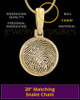 Round Gold Plated Thumbprint Pendant