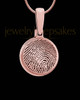 Round Rose Gold Plated Thumbprint Pendant