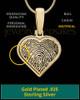 Heart Gold Plated Thumbprint Pendant