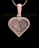 Rose Gold Plated Thumbprint Heart Pendant