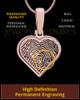 Rose Gold Plated Thumbprint Heart Pendant