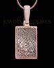 Thumbprint Rectangle Rose Gold Plated Pendant