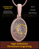 Oval Thumbprint Rose Gold Plated Pendant
