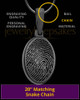 Black Plated Oval Thumbprint Pendant