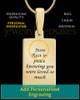 Gold Plated Birthstone Rectangle Thumbprint Pendant