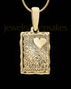 Gold Plated Sterling My Love Rectangle Thumbprint Pendant