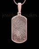Dog Tag Thumbprint Rose Gold Plated Pendant