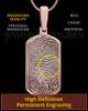 Dog Tag Thumbprint Rose Gold Plated Pendant