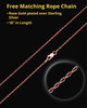 Keepsake Cremation Jewelry 14K Rose Gold Plum