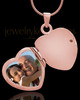 Necklace Urn 14K Rose Gold Memory Heart Keepsake